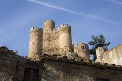 Castello di Almansa, La Mancha, Spagna della Castiglia Immagine Stock Libera da Diritti