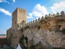 Castello di Almansa, La Mancha, Spagna della Castiglia Fotografia Stock Libera da Diritti