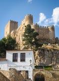 Castello di Almansa, La Mancha, Spagna della Castiglia Fotografie Stock