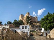 Castello di Almansa, La Mancha, Spagna della Castiglia Immagini Stock