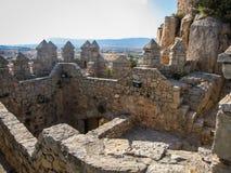 Castello di Almansa, La Mancha, Spagna della Castiglia Fotografie Stock Libere da Diritti