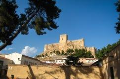Castello di Almansa, La Mancha, Spagna della Castiglia Immagine Stock