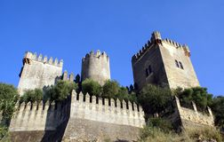 Castello di Almodovar in spagna Fotografie Stock Libere da Diritti