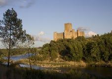Castello di Almourol al tramonto Fotografie Stock