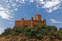 Castello di Almourol, nella città di Almourol, il Portogallo Fotografie Stock Libere da Diritti
