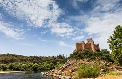 Castello di Almourol, nella città di Almourol, il Portogallo Fotografia Stock