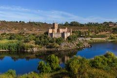 Castello di Almourol - Portogallo Fotografie Stock Libere da Diritti