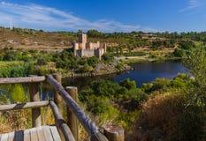 Castello di Almourol - Portogallo Immagini Stock