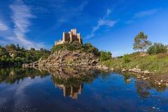 Castello di Almourol - Portogallo Fotografie Stock