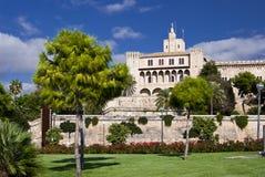 Vista della via in Palma de Majorca Fotografie Stock Libere da Diritti