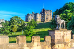 Castello di Alnwick, Inghilterra Immagini Stock
