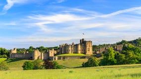 Castello di Alnwick, Inghilterra Fotografie Stock Libere da Diritti
