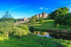 Castello di Alnwick, Inghilterra Fotografia Stock Libera da Diritti