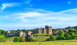 Castello di Alnwick, Inghilterra Fotografie Stock