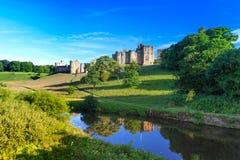 Castello di Alnwick, Inghilterra Immagine Stock Libera da Diritti