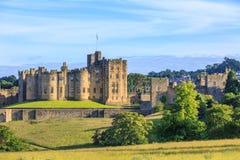 Castello di Alnwick, Inghilterra Immagine Stock