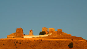 Castello di Alora ad alba Immagini Stock