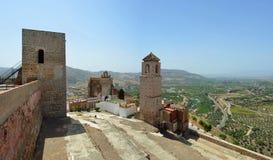 Castello di Alora e campagna circostante Andalusia Fotografia Stock