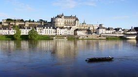 Castello di Amboise sul fiume la Loira Fotografia Stock Libera da Diritti