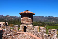 Castello di Amorosa Photographie stock libre de droits