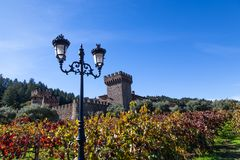 Castello di Amorosa in California Immagini Stock