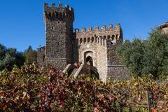 Castello di Amorosa in California Fotografie Stock Libere da Diritti