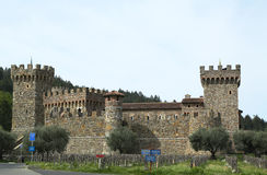 Castello Di Amorosa Winery στην κοιλάδα Napa Στοκ φωτογραφίες με δικαίωμα ελεύθερης χρήσης
