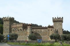 Castello di Amorosa Winery en Napa Valley Fotos de archivo libres de regalías