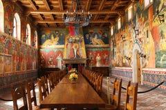Castello di Amorosa Winery gran pasillo en Napa Valley Foto de archivo libre de regalías