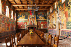 Castello di Amorosa Winery Great Hall in Napa Valley Royalty Free Stock Photo
