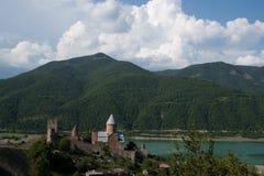 Castello di Ananuri. Fotografie Stock