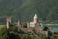 Castello di Ananuri. Fotografia Stock