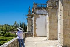 Castello di 600 anni antico in Tomar, Portogallo Immagini Stock Libere da Diritti