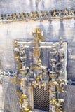 Castello di 600 anni antico in Tomar, Portogallo Fotografie Stock
