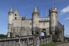 Castello di Anversa - Het Steen - Anversa nel Belgio Fotografie Stock Libere da Diritti