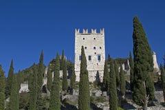 Castello di Arco i Trentino Arkivbilder
