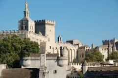 Castello di Avignon, (la Provenza), la Francia Fotografie Stock Libere da Diritti
