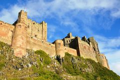 Castello di Bamburgh in Northumberland Immagini Stock