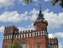 Castello di Barcellona Immagini Stock