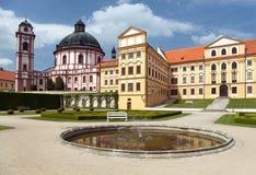 Castello di barocco e di rinascita di Jaromerice nad Rokytnou immagine stock libera da diritti