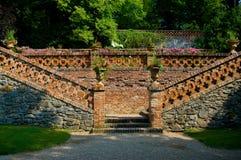 Castello di baroque di Lysice. fotografia stock