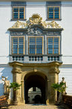 Castello di baroque di Lysice. immagini stock libere da diritti