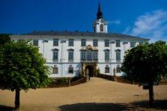 Castello di baroque di Lysice. fotografia stock libera da diritti