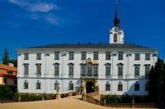 Castello di baroque di Lysice. immagine stock libera da diritti