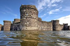 Castello di Beaumaris, Anglesey, Galles del nord Fotografie Stock