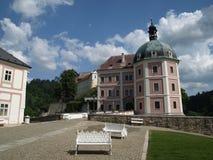 Castello di Becov nad Teplu Fotografia Stock Libera da Diritti