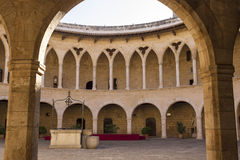 Castello di Bellver Mallorca fotografia stock