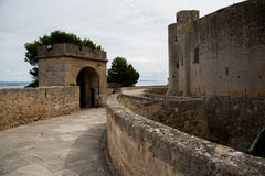 Castello di Bellver, Palma de Mallorca Fotografia Stock