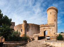 Castello di Bellver in Palma de Mallorca, Spagna fotografia stock