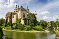 Castello di Bojnice Immagine Stock Libera da Diritti